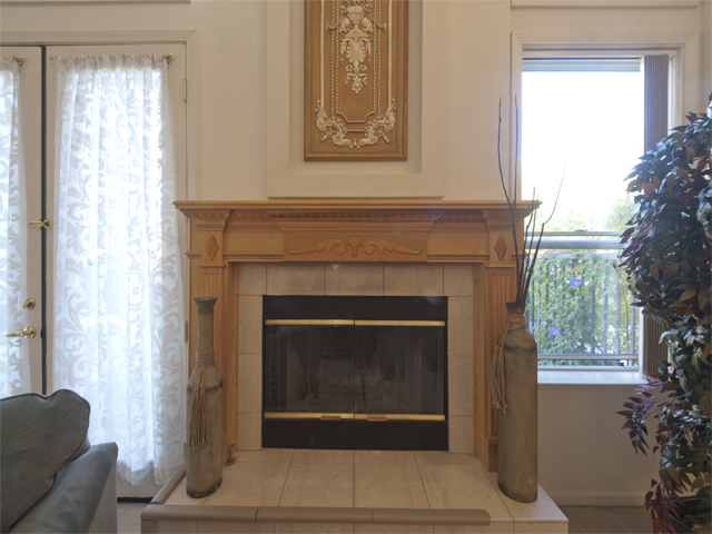 Living Room Fireplace  - 810 Corriente Point Dr