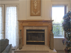 810 Corriente Point Dr, Redwood Shores 94065 - Living Room Fireplace