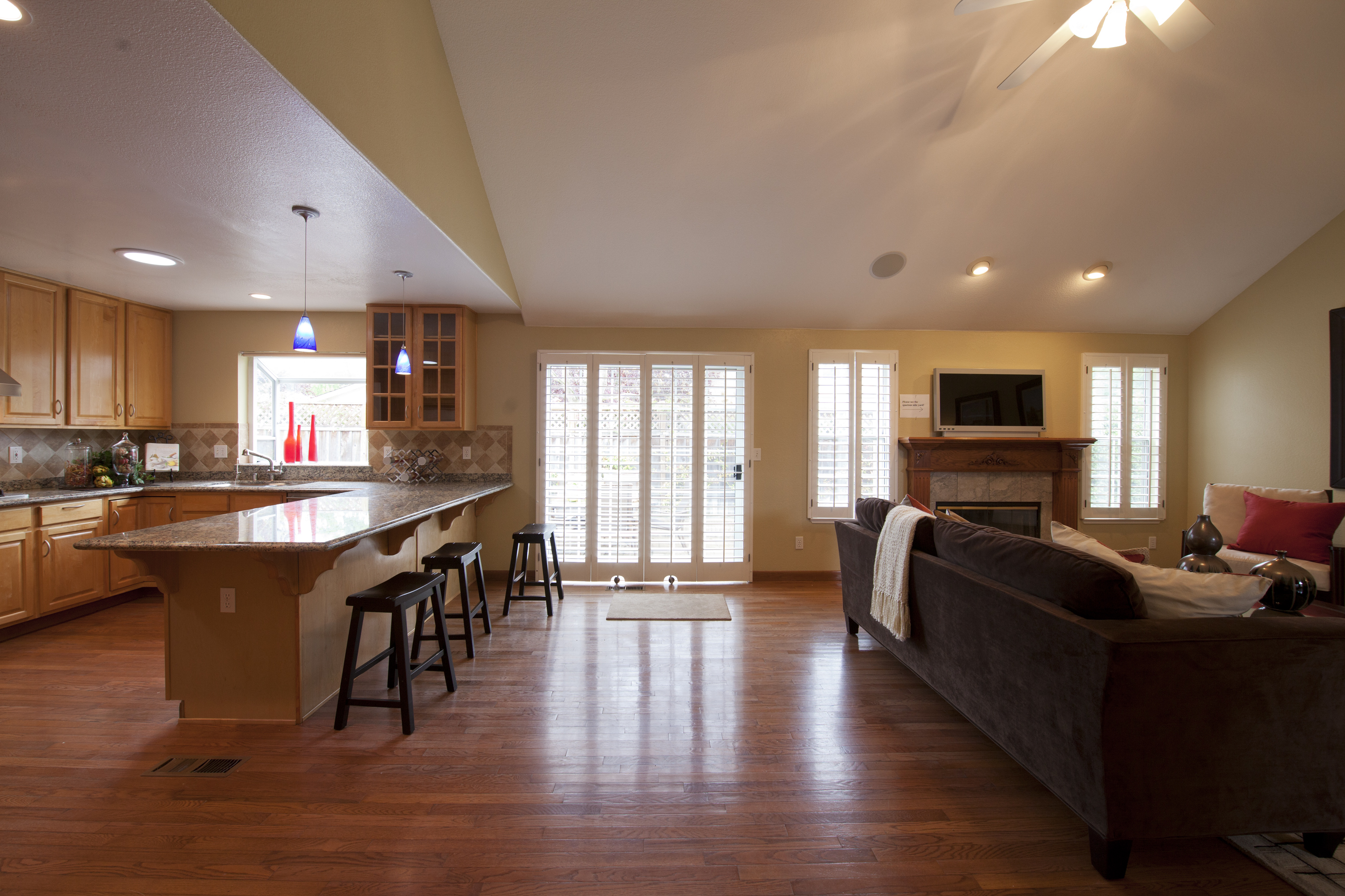 Stunning 18 Images Kitchen Family Room Designs - House Plans