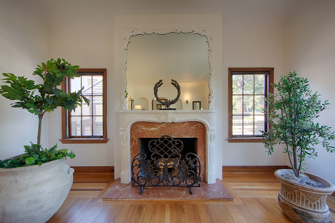 Living Room Fireplace (A) - 1130 University Ave