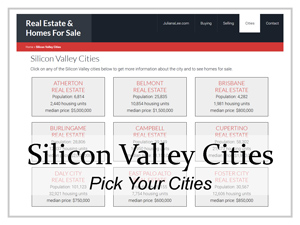 pick which Silicon Valley cities
