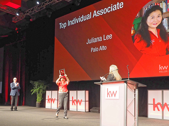 Keller Williams Award Ceremony - Juliana Lee #1 Agent